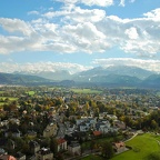The Alps from Salzburg Fortress