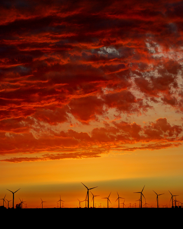 Sunset at the Wind Farm West of Dwight